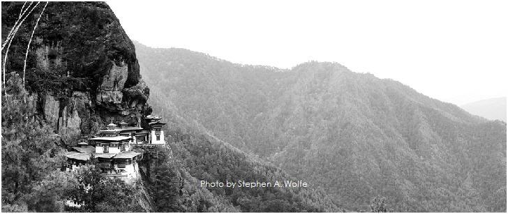 Bhutan Tiger's Nest Monastary by Stephen A. Wolfe