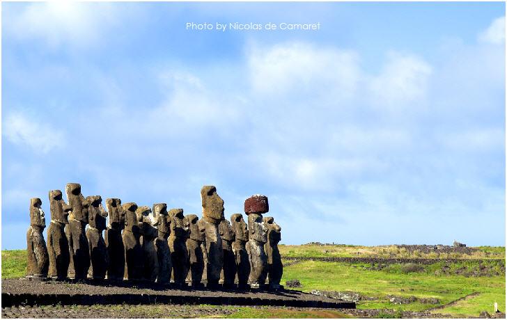 Easter Island by Nicolas de Camaret