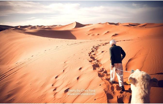 Sahara Desert of Merzouga, Morocco by Chris Ford