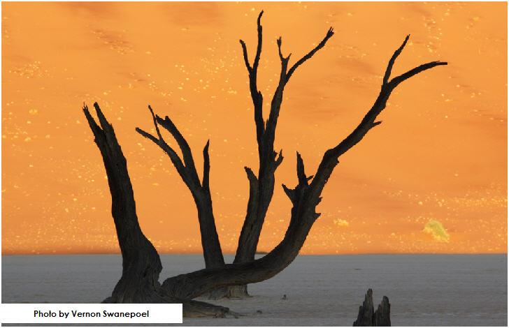 Sun lits up the Dune at Deadvlei, Sossusvlei, Namibia