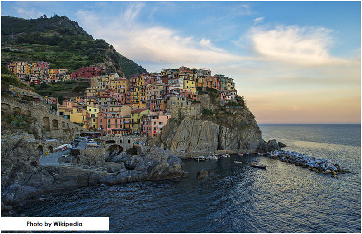 Evening at Manarola, Cinque Terre, Italy