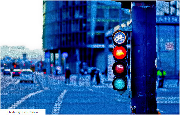 Bicycle traffic signal, Berlin