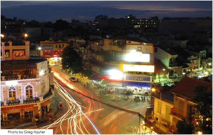 Vietnam, Hanoi at night