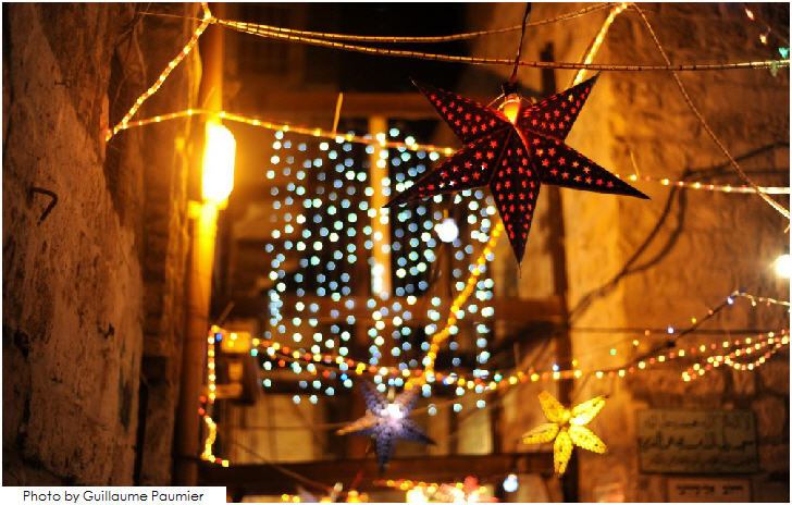 Ramadan decorations in Jerusalem