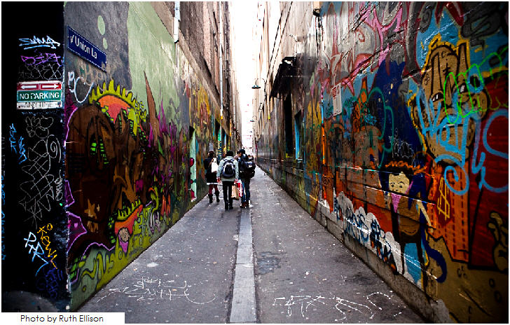 Street art, Union Lane, Melbourne