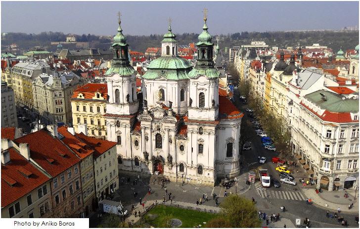 Prague, well-preserved European architecture
