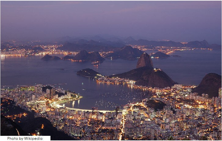 Botafogo Bay at night, Rio de Janeiro