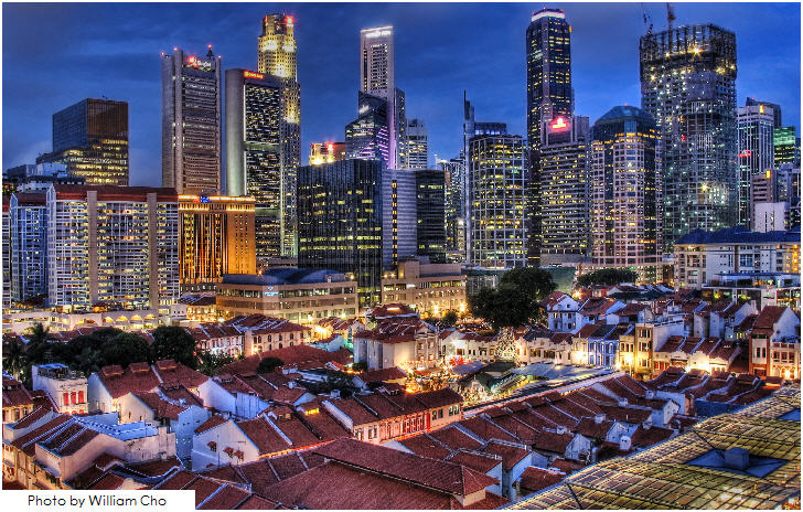 Singapore, view from Chinatown
