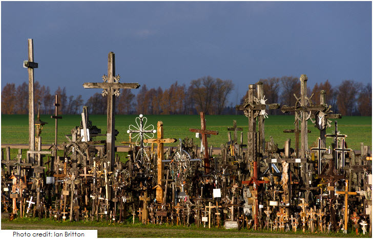 Lithuania Siauliai's Hill of Crosses