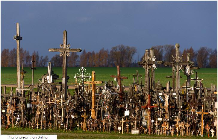 Lithuania Siauliai's Hill of Crosses