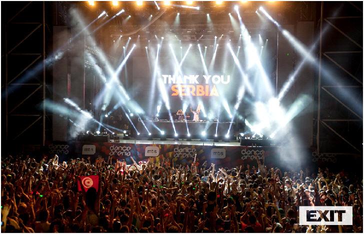Serbia, Crowd at Afrojack VS Quintino, Dance Arena Exit Festival 2014