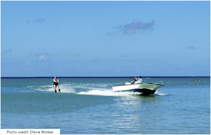St Lucia Water Skiing, Morgan Bay