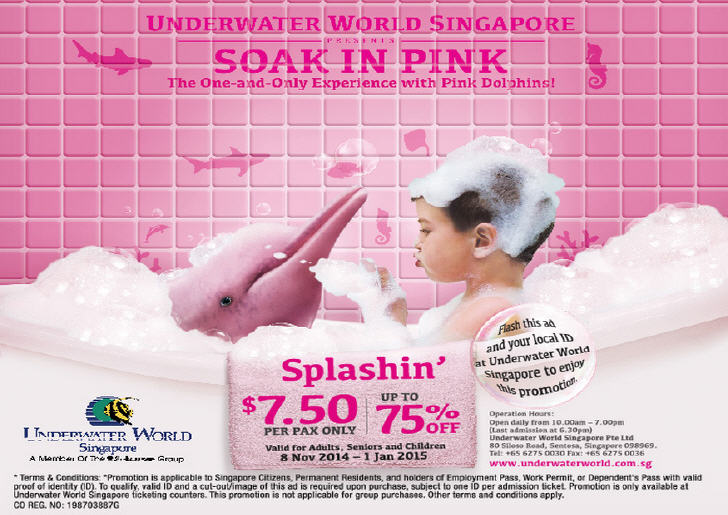Soak in Pink, Underwater World Singapore