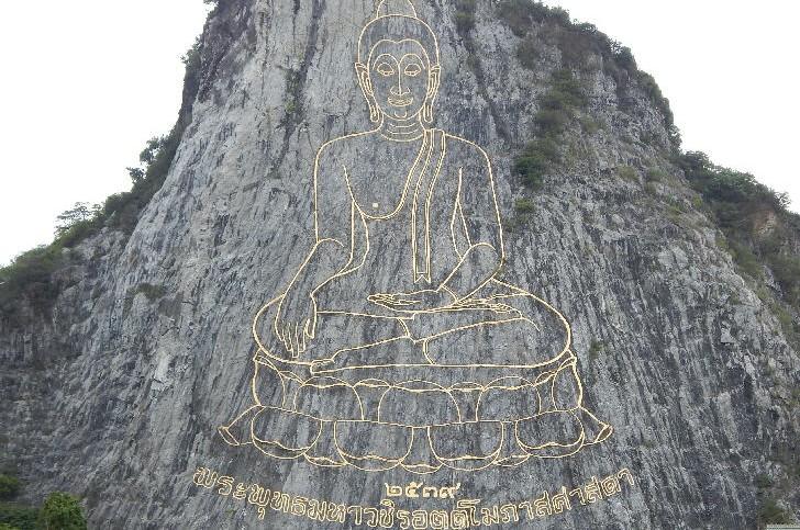 Pattaya, Khao Chi Chan's Engraved Buddha Image
