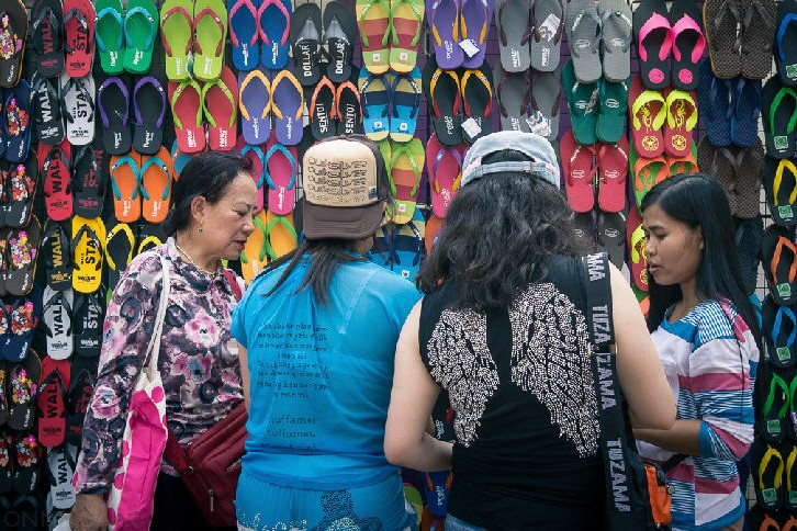 Colourful sandals, Chatuchak Weekend Market (Jatujak Market), Bangkok