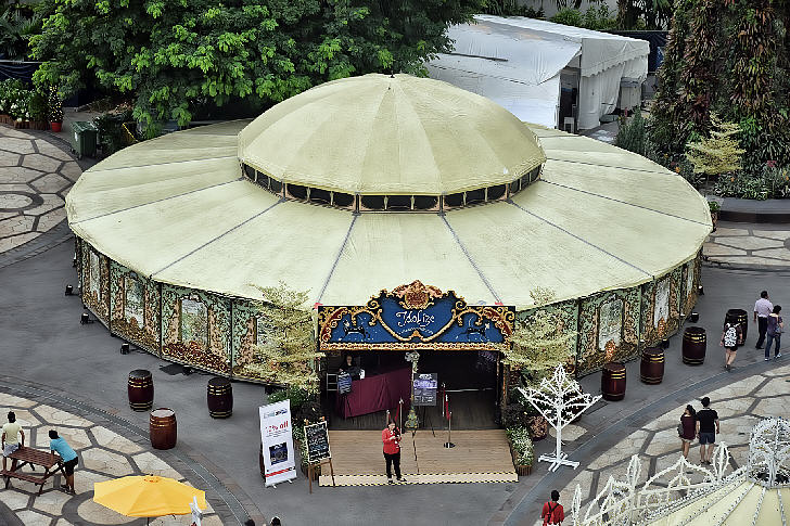 Spiegeltent, Christmas Wonderland at Gardens by the Bay