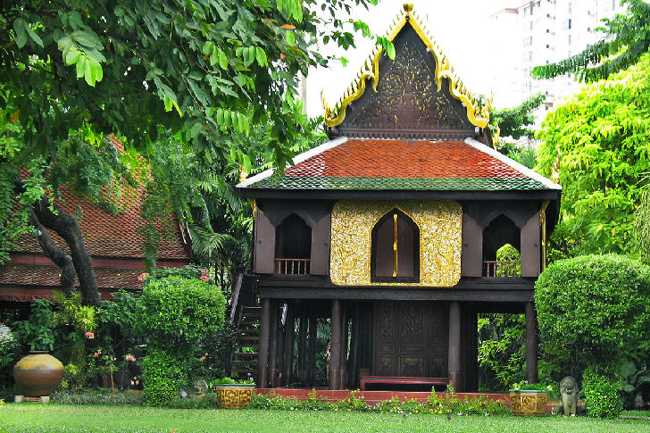 Lacquer Pavillon and gardens in Suan Pakkad Palace, Bangkok
