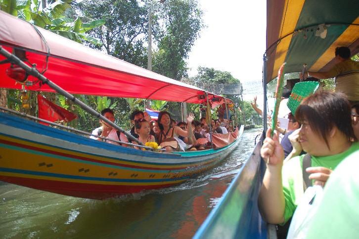 Longtail boat ride, Taling Chan Floating Market, Bangkok