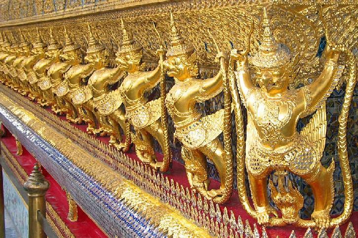 Garuda and Nagas, Wat Phra Kaew (Temple of the Emerald Buddha), Bangkok