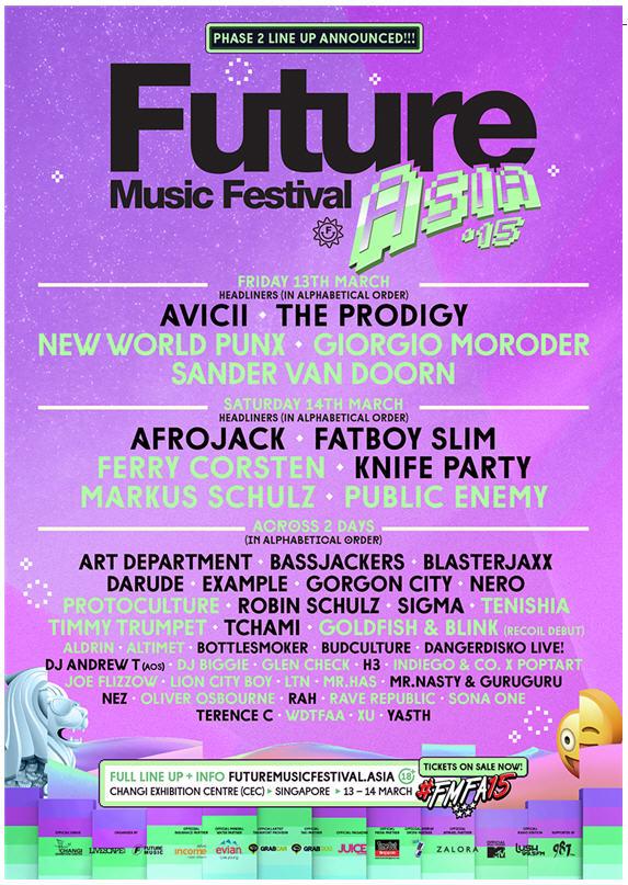 Future Music Festival Asia 2015 #FMFA15 Full Line-Up Announced