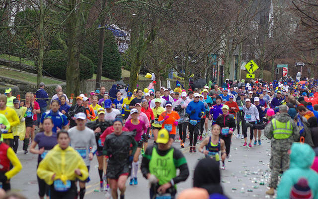 2015 Boston Marathon, Mile 20.5 - the start of Heartbreak Hill