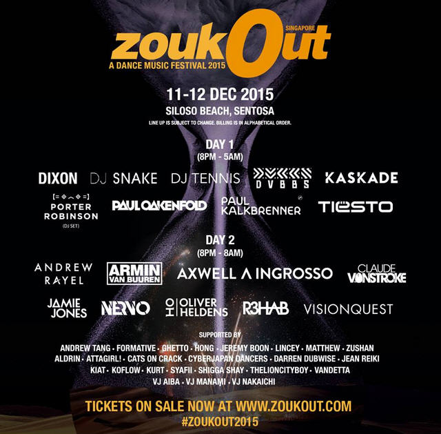 ZoukOut A Dance Music Festival 2015 Singapore