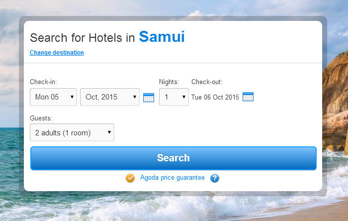 Search for hotels in Ko Samui