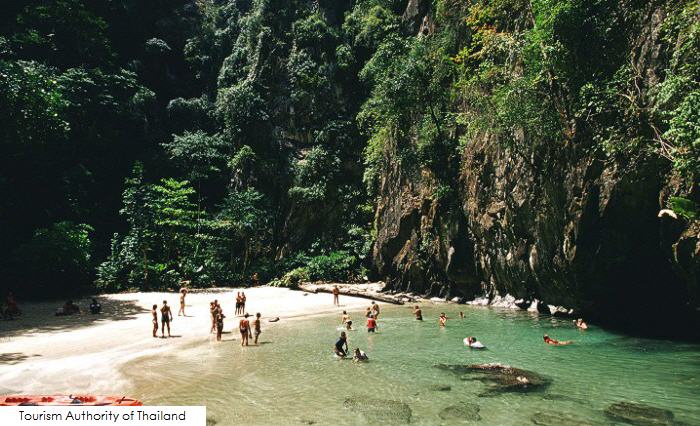 Secret hideaway on the other side of Morakot Cave, Haad Chao Mai National Park