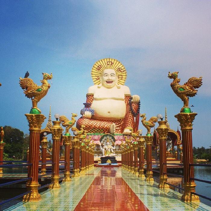 The laughing Buddha, Wat Plai Laem