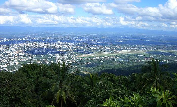 View from Doi Suthep over Chiang Mai City