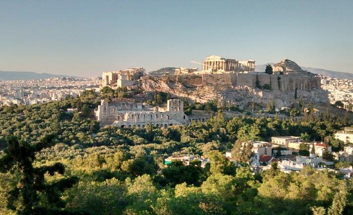 Acropolis of Athens, from Filopappos Hill