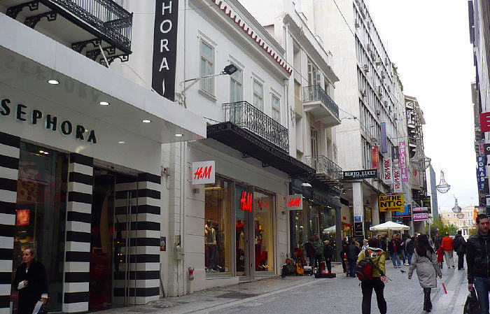 Ermou Street section near Syntagma Square