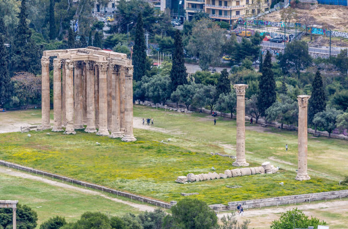 Temple of Olympian Zeus, Top tourist attractions in Athens