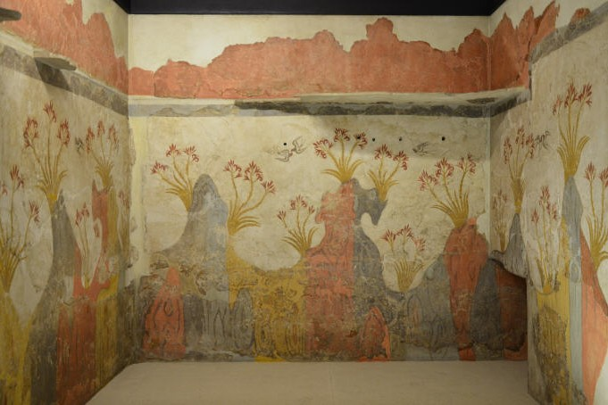 The Spring Fresco, from Akrotiri, Thera (Santorini), Minoan Civilization, 16th Century BC, National Archaeological Museum of Athens