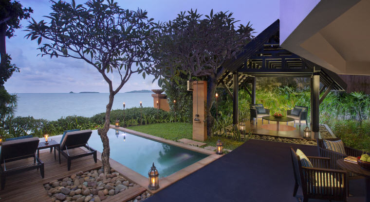 Beachfront Pool Suite Exterior, Anantara Bophut Koh Samui Resort