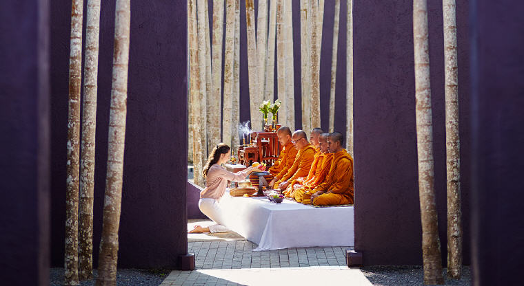 Monks Blessing Ceremony, Phulay Bay, A Ritz-Carlton Reserve