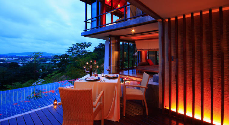 Romantic dining, Villa Zolitude Resort & Spa