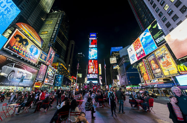 Times Square, New York City, Top 10 summer destinations US travelers are going 2016