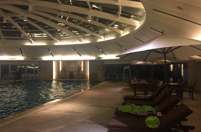 Indoor pool, Sofitel Nanjing Galaxy, Nanjing, China