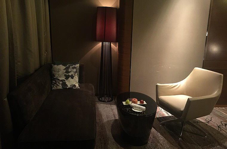 Renovated Luxury Room comes with a sofa area and welcome fruits for the first day