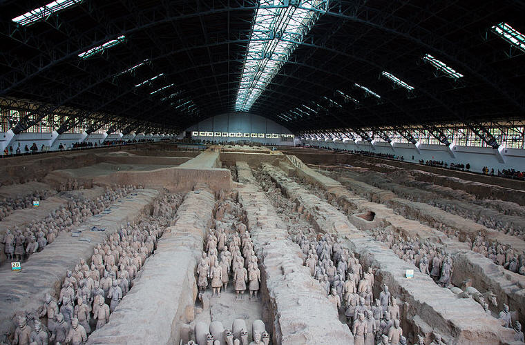 The Museum of Qin Terra-cotta Warriors and Horses, Xi'an, China, Photo credit: Jmhullot