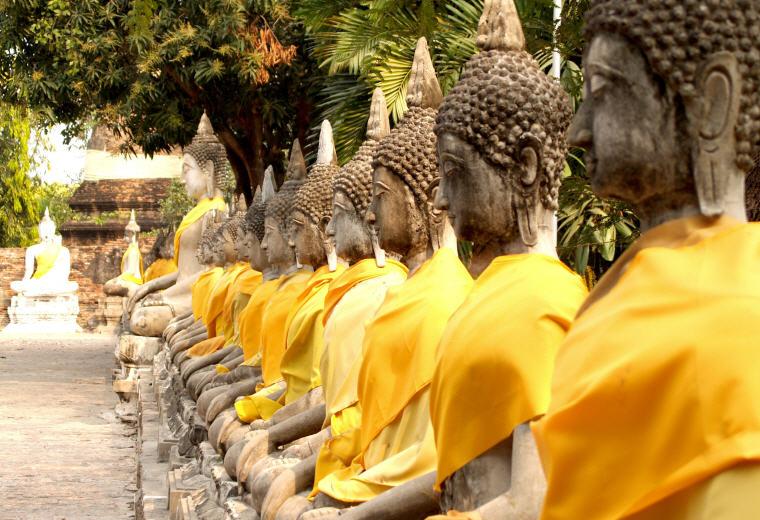Rows of Buddha Images, Wat Yai Chai Mongkhon, Ayutthaya