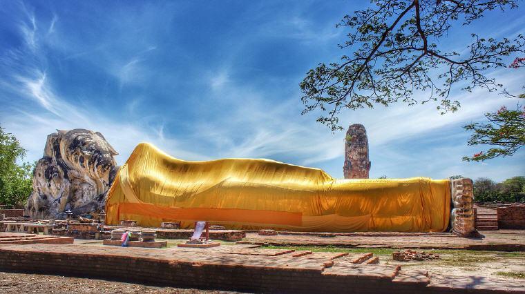 The Reclining Buddha, Wat Lokkayasutharam, Ayutthaya