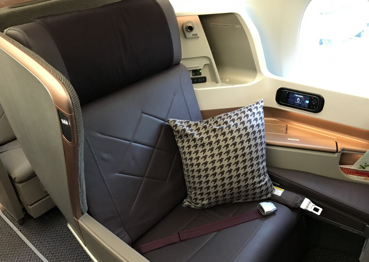 SQ323 A350 Business Class Seat 14A