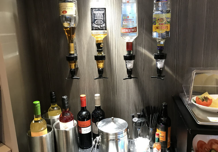 Alcoholic Drinks in lounge
