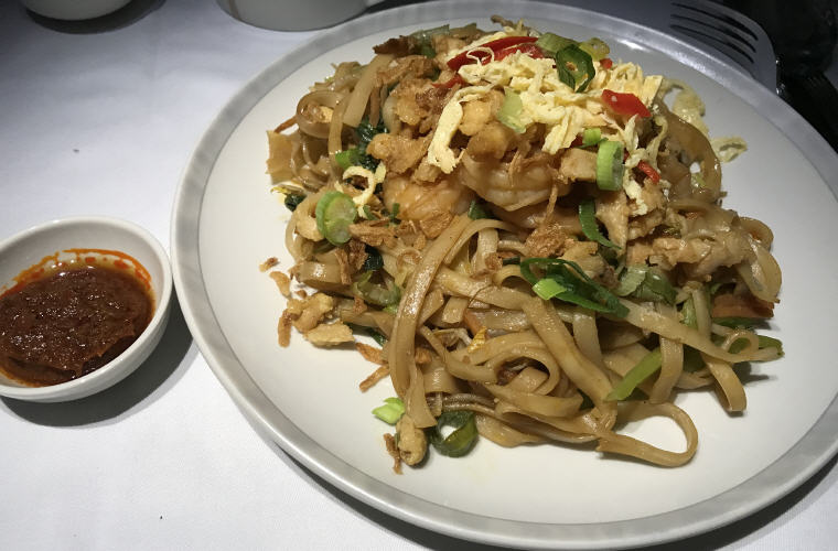 Bami Goreng, Indonesian fried noodles with chicken and prawn
