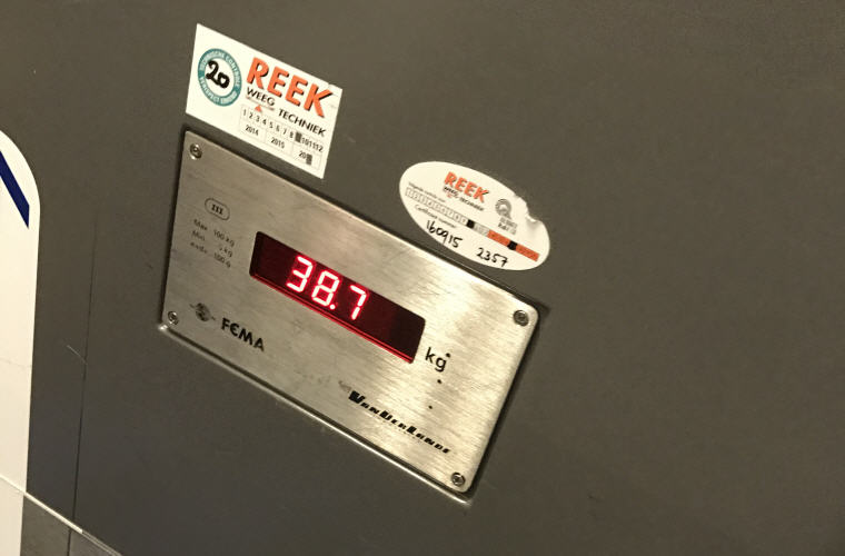 Final weight for 2 check in luggage