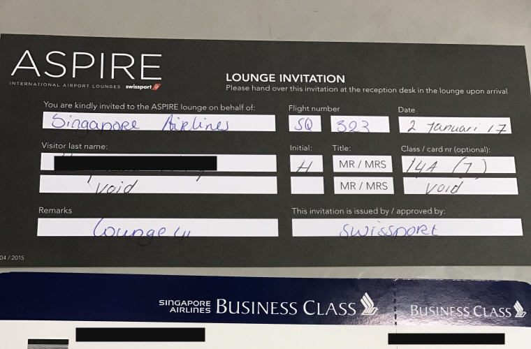 Lounge Invitation Card