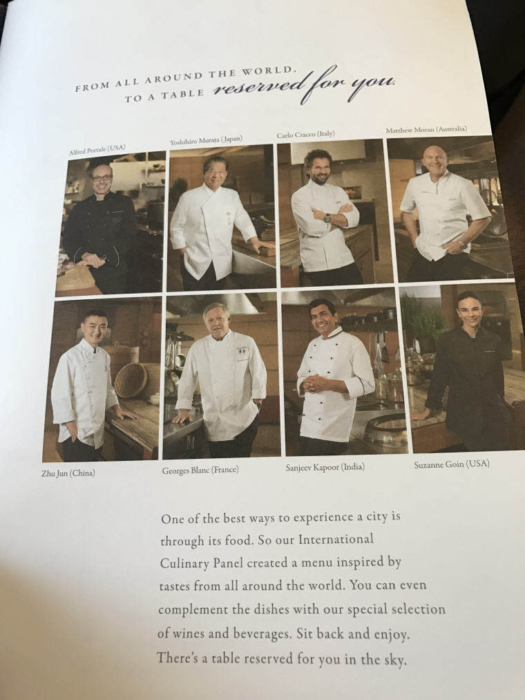 International Culinary Panel, Singapore Airlines