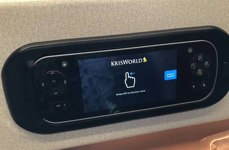 Remote controller for tv, SQ323 A350 Business Class Experience